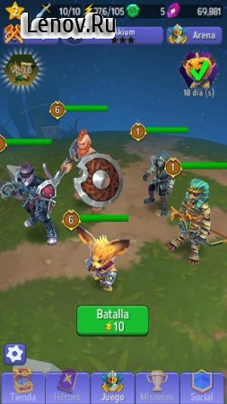 Hero Masters - Idle RPG Battler v 1.1.4 Мод (Rune sell gives you 10000 gems and 100000 Aqvium)