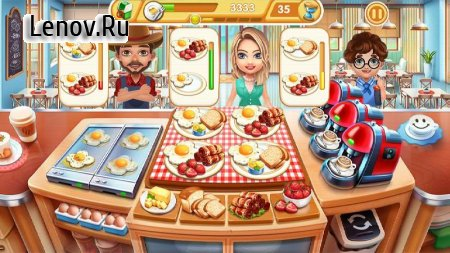 Cooking City - crazy restaurant game v 1.19.3973 Мод (Infinite Diamond)