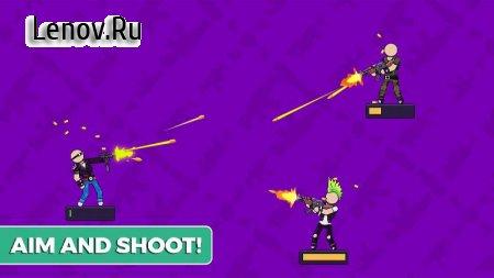 The Gunner: Stickman Weapon Hero v 1.0.9 Мод (Free Shopping)