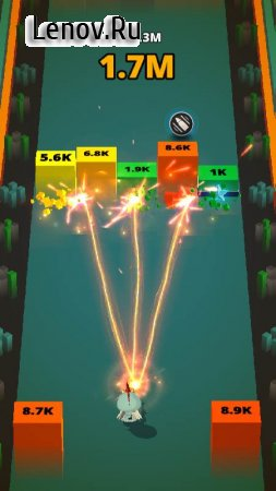 Fire Gun: Brick Breaker v 2.1 Мод (Unlimited coins/Free upgrading)