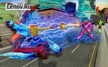 US Police Hammer Robot Fighting Robot War Game v 1.0 (God Mode)