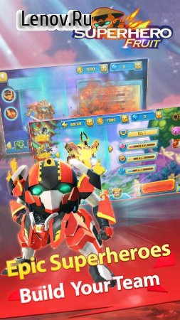 Superhero Fruit: Robot Wars v 3.0 Мод (Unlimited Gold Coins/Diamonds)