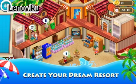Resort Empire : Hotel Simulation Games v 1.4 Мод (Free Shopping)