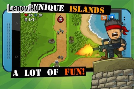 Island Defense: Offline Tower Defense v 20.32.483 Мод (Unlimited Gold Coins/Chips)