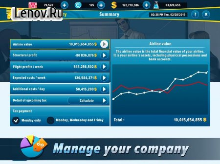 Airlines Manager - Tycoon 2020 v 3.02.0013 Мод (много денег)