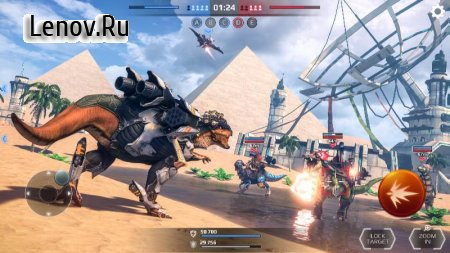 Jurassic Monster World: Dinosaur War 3D FPS v 0.12.0 Мод (Use bullets without subtracting)
