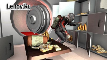 Burglar Bank Robbery : Robber Simulator v 1.3 Мод (Get unlimited currency once)
