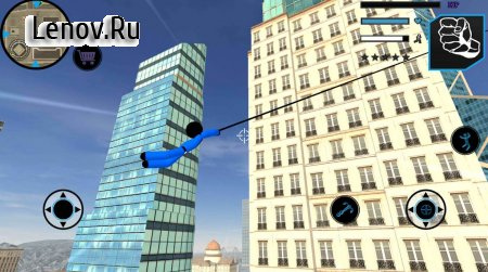 US Police Stickman Vegas Rope Hero City Gangster 2 v 1.2 Мод (Unlimited Coin)