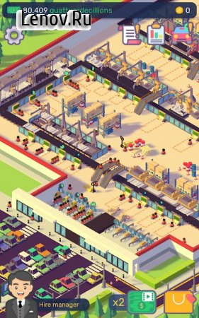 Car Industry Tycoon - Idle Factory Simulator v 1.5.9 Мод (много денег)