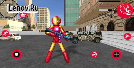 Iron Stickman Rope Hero War Gangstar OffRoad v 1.3 Мод (Unlimited Coin/Gems)