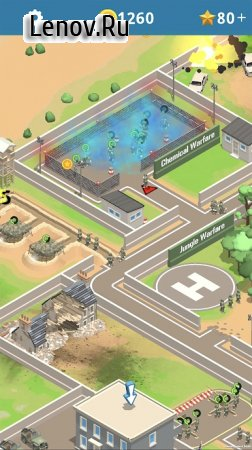 Idle Army Base v 1.14.3 Мод (много денег)