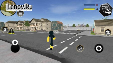 Black Iron Stickman Rope Hero Crime Gangstar v 1.2 Мод (Unlimited Coin/Gems)