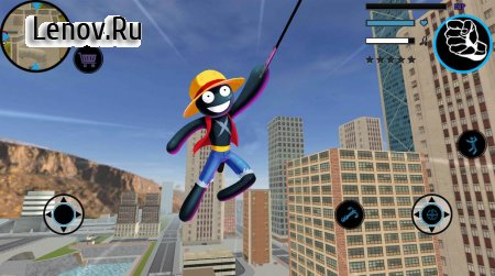 Stickman Rope Hero - Pirate Fight v 1.0 Мод (Unlimited Coin/Gems)