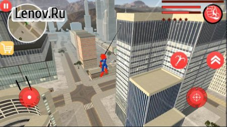 New Spider Stickman Rope Hero Shooting Crime 2020 v 1.0 (Unlimited Coin/Gems)
