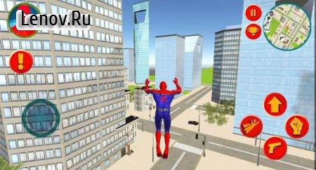 Spider Rope Hero Man Vegas Crime Simulator v 1.0 Mod (Unlimited skill points/gold coins)