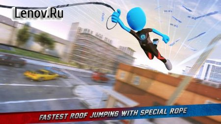 Ice Spider Stickman Rope Hero Gangster City v 1.0 Mod (The free ads to get a lot of rewards)