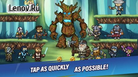 Taptic Heroes-Idle Tap Adventure,RPG clicker games v 1.1.19 Mod (Team Upgrade cost 0 & More)