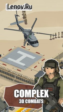 Idle Warzone 3d: Military Game - Army Tycoon v 1.2.3 Mod (Unlimited Money/Diamonds)