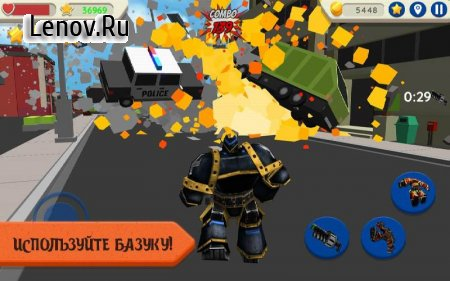 Robot Hero: City Simulator 3D v 1.036 Mod (Unlimited coins)