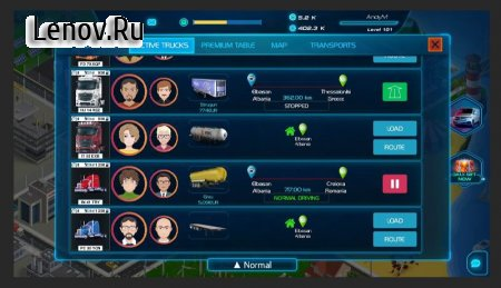 Virtual Truck Manager 2 Tycoon trucking company v 1.0.05 Mod (No ads)