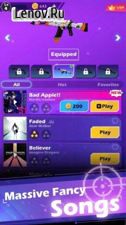 Beat Shooter - Gunshots Rhythm Game v 1.4.5 Mod (Gold coins/VIP)