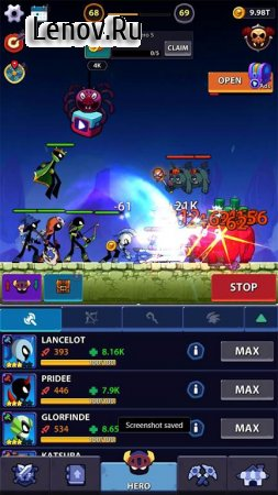 Idle Stickman Heroes: Monster Age v 1.0.26 (Mod Money/Free Shopping)