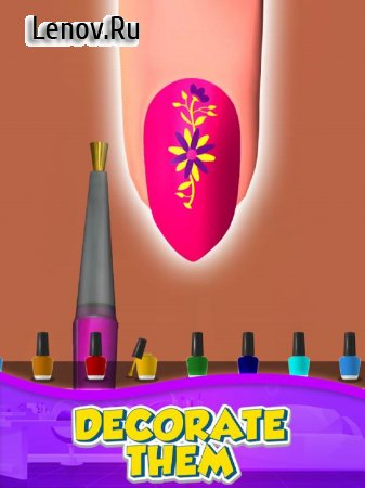 Nail Salon 3D v 1.2.2 Mod (A lot of gold coins/Don't watch advertising upgrades)