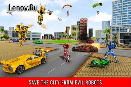 Bee Robot Car Transformation Game: Robot Car Games v 1.32 Mod (Characters can't die)