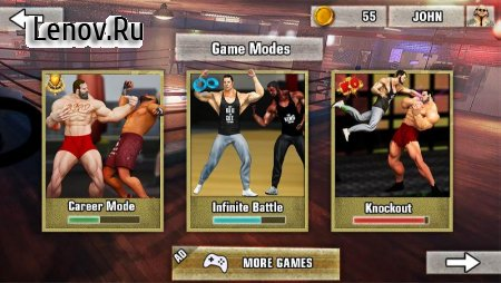 Bodybuilder Fighting Games: Gym Trainers Fight v 1.3.4 Mod (Unlimited money)
