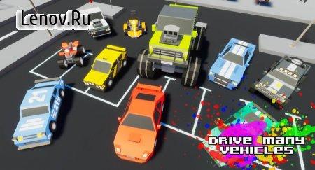 Gangster && Mafia Block City Dude Theft Pixel Car v 1.09 Mod (A lot of gold coins)