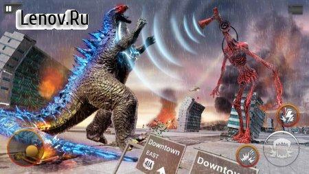 Monster Smash City - Godzilla vs Siren Head v 1.0.4 Mod (Lots of gold coins/no ads)